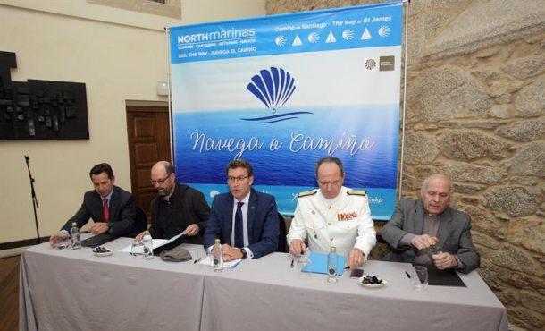 Feijóo celebra el impulso de una ruta náutica para el Camino de Santiago
