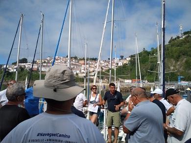 """Este mércores, día 17, chega a Burela a """"IV Travesía Navega El Camino""""."""