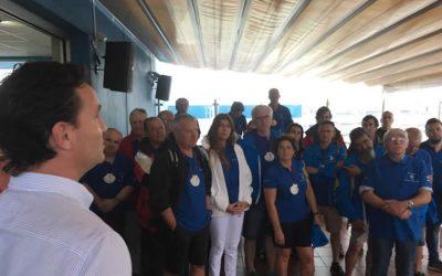 Los peregrinos de la III Travesía Navega el Camino disfrutaron de una merecida jornada de descanso este jueves, en la ciudad de Gijón después de doscientas millas navegadas
