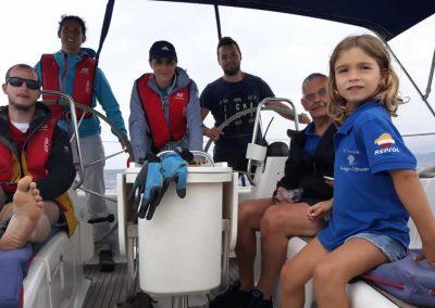 Borja con la tripulación