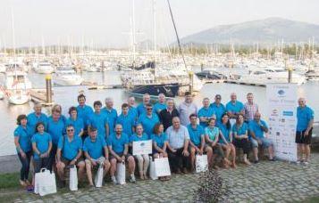 Los peregrinos de la III Travesía Navega el Camino disfrutan Gijón