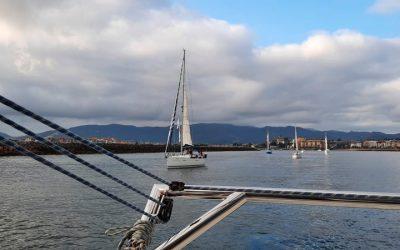Los peregrinos por mar se ponen en marcha en Hondarribia